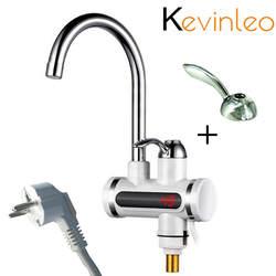 Кухня Tankless водонагреватель 220 В 3000 Вт Электрический кран горячей бойлер электрическое отопление нажмите элемент с Температура Дисплей