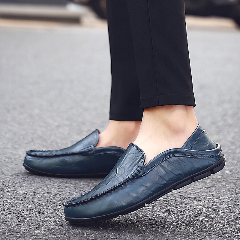 HTB1b84KLCzqK1RjSZFjq6zlCFXaG Italian Mens Shoes Casual Luxury Brand Summer Men Loafers Genuine Leather Moccasins Light Breathable Slip on Boat Shoes JKPUDUN