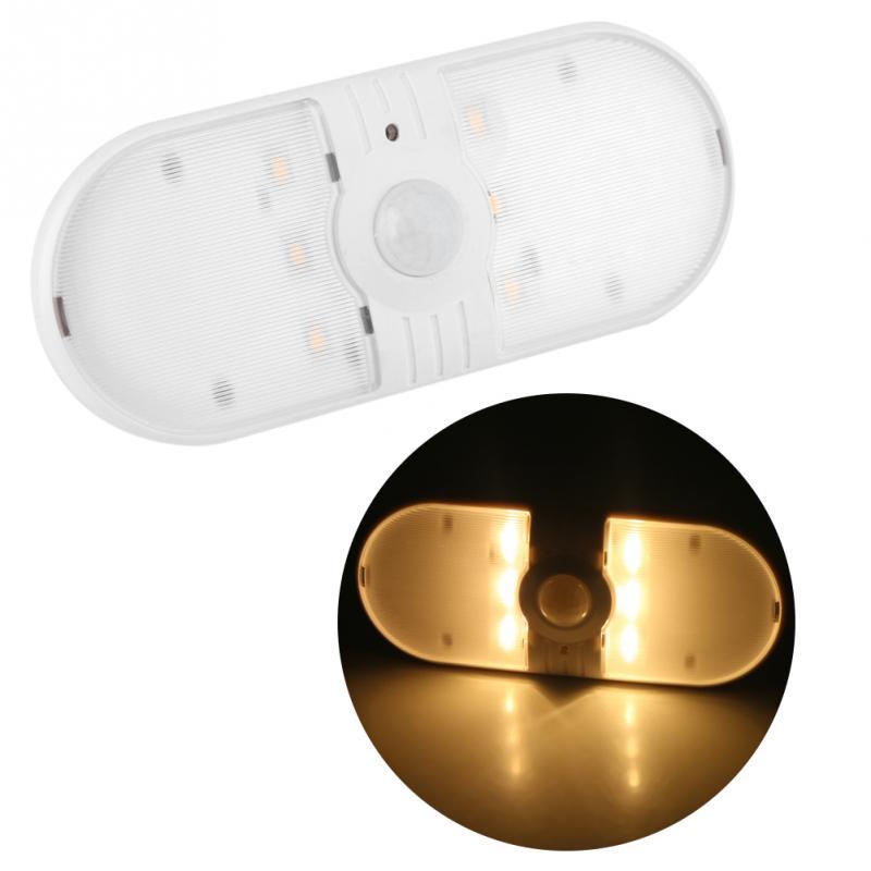 Battery Powered 6LED Cabinet Night Light Motion Sensor Wireless Wardrobe Lamp Cabinet Closet Night Bedroom Nightlight luminaria