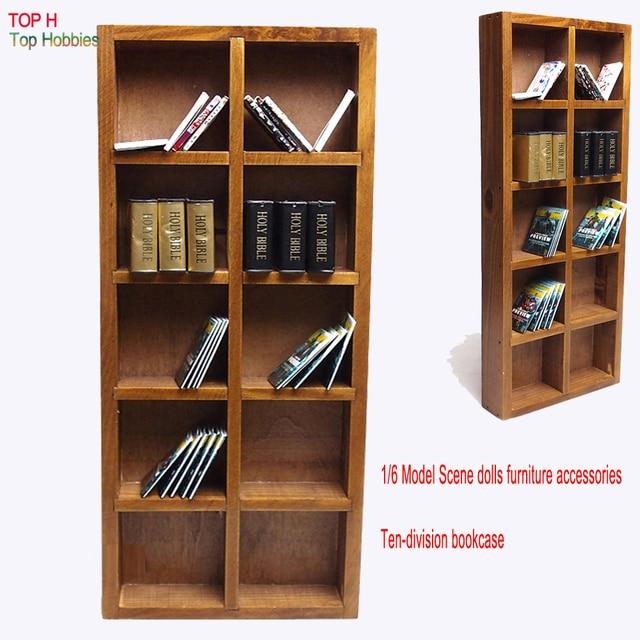 1 6 Solr Model Scene Dolls Furniture Accessories Ten Division Bookcase Fit 12inch Figure