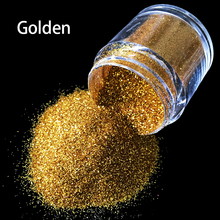 10g bottle Golden Nail Art Glitter 3D Nail Art Tool UV Powder Dust gem Polish Nail