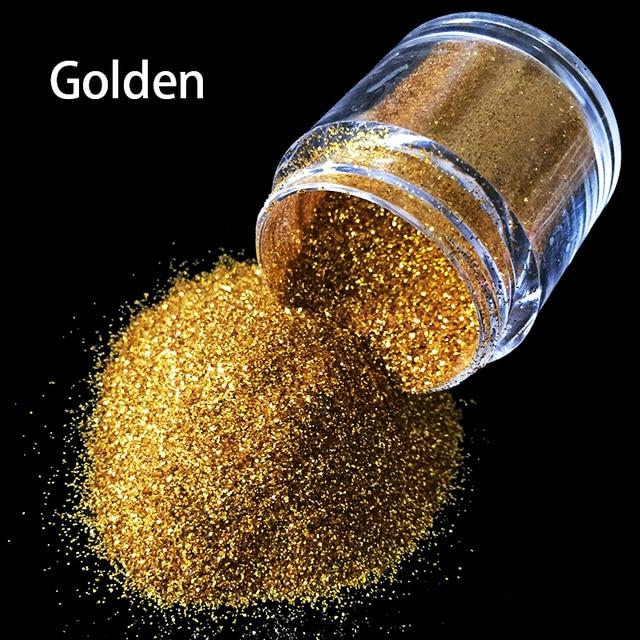 10gbottle Golden Nail Art Glitter 3d Nail Art Tool Uv Powder Dust