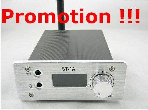 Акция!!! ST-1A 1 Вт fm стерео PLL передатчик 87-108 МГц + Короткая антенна + Powersupply КИТ только 89 USD в том числе стоимость доставки