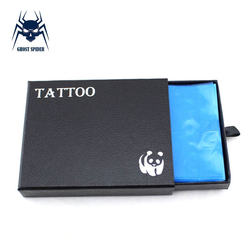 GHOST SPIDER Professional 200pcs Disposable Blue Tattoo  Covers Bags For Tattoo Machine Accessories