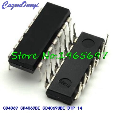 10pcs/lot CD4069UBE CD4069BE CD4069U CD4069L CD4069 DIP-14