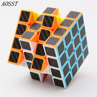 AOSST 4x4x4 Magic Cube Classic Spinner Toy Puzzle Cubes Speed Cubo Square Puzzle Rainbow Gifts