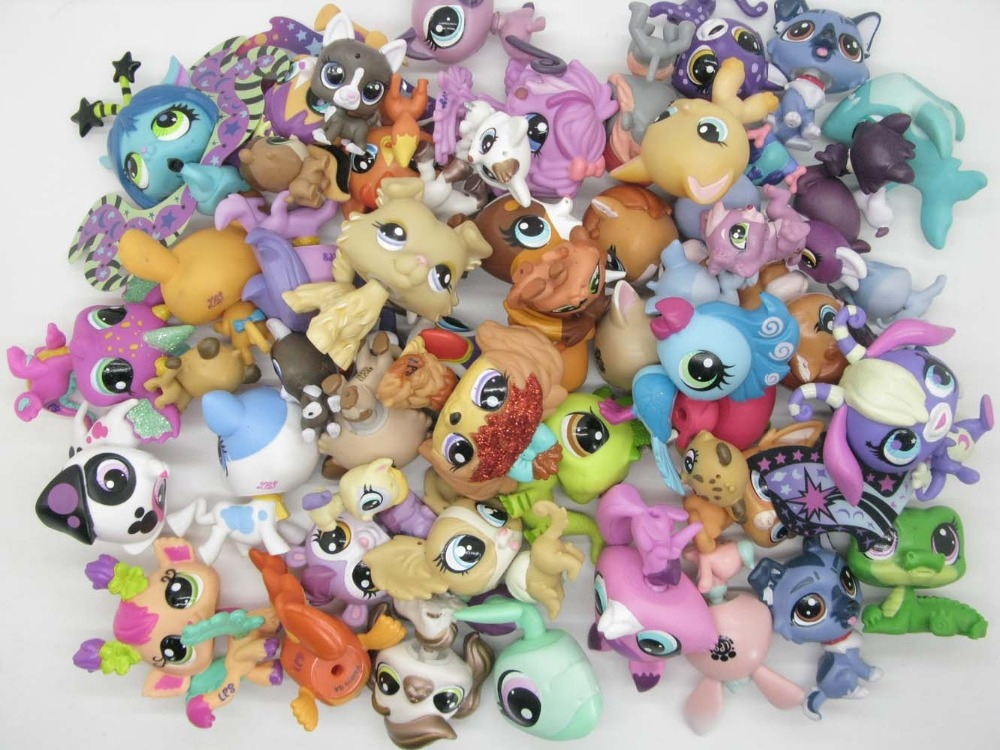 20Pcs/lot random Animal Littlest Toy pet shop toy Cute lol pets patrulla canina Action Figures Kids toysAction & Toy Figures   -