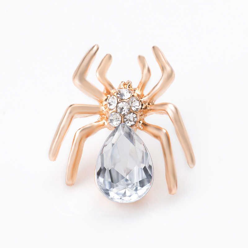 SHUANGR Nuovo 2016 di Colore Dell'oro di Cristallo di Zircon di Lusso CZ Spider Insetto Spille Commerci All'ingrosso Gioelleria raffinata e alla moda per le donne