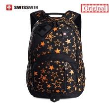 Swisswin Brand Fashion Backpack Women Japan Korean Style School Backpack For Teenage Girls Lightweight Star Schoolbag