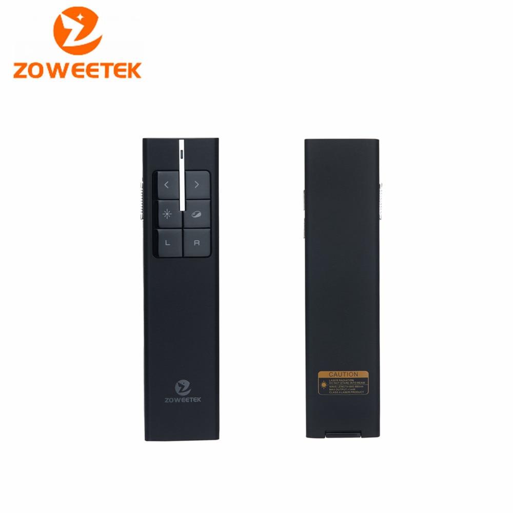 Original Zoweetek ZWP03 Smart Laser Pen Wireless 2.4G Infrared Remote Control USB PPT Pointer Presenter for Presentation Speech smart pointer