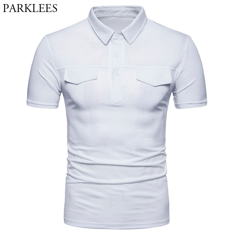 Men's Hipster Classic White   Polo   Shirt 2018 Summer New Slim Fit Short Sleeve Camisa   Polo   Masculina Men Casual Brand   Polo   Hombre