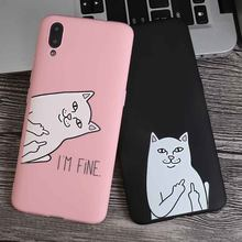 Cute Cartoon Cat Silicone Phone Case For Oppo Realme 1 2 C1 K1 A3 R17 F9 R15 Pro F1 R15 A79 A83 R11S Plus F5 A71 Cover(China)