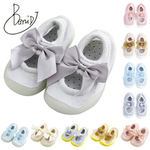 Infant Toddler Shoes 2019 Spring Girls Boys Bow Casual Mesh Shoes Soft Bottom Comfortable Non-slip Kid Baby First Walkers Shoes