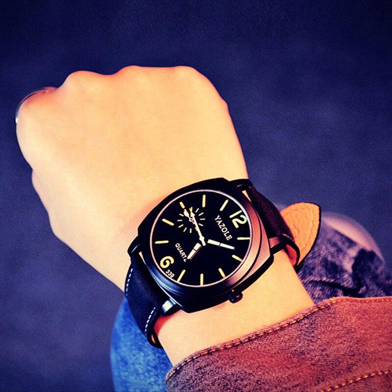2018 Yazole Watch Korean Men's Luminous Watches Fashion Minimalist Personality Students Watch Quartz Watch Relogio Masculino