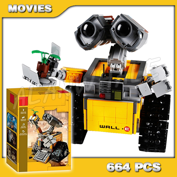 687pcs Ideas Pixar WALL E Robots Rolling Tracks Movie 16003 Model Building Blocks Assemble Kids Toys Bricks Compatible with <font><b>Lego</b></font> image