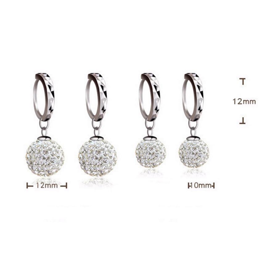 Pani Shambhala luksusowe kryształowe kolczyki w kształcie łezki - Modna biżuteria - Zdjęcie 4