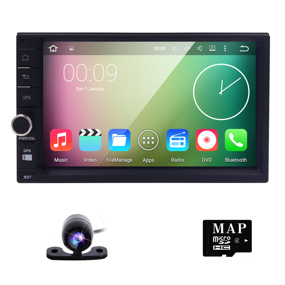 "Quad Core 7"" inch Double 2 Din Android 5.1 Universal Car Radio in dash Car  GPS Navigation Car PC Stereo video"