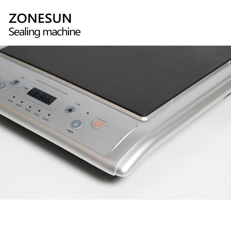 Zonesun GLF 500L microcomputador mão realizada indução eletromagnética tampa da folha de alumínio máquina de selagem de indução contínua aferidor - 3