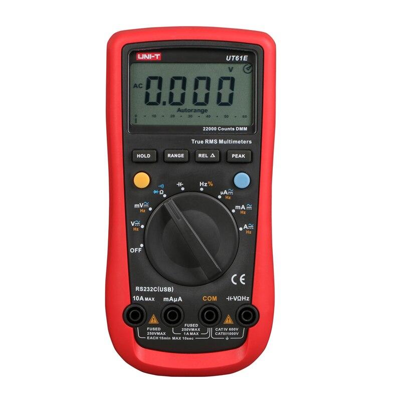 UNI-T UT61E Hohe Zuverlässigkeit Digital Multimeter Moderne Digital Multimeter AC DC Meter CD & Daten Halten Multitester