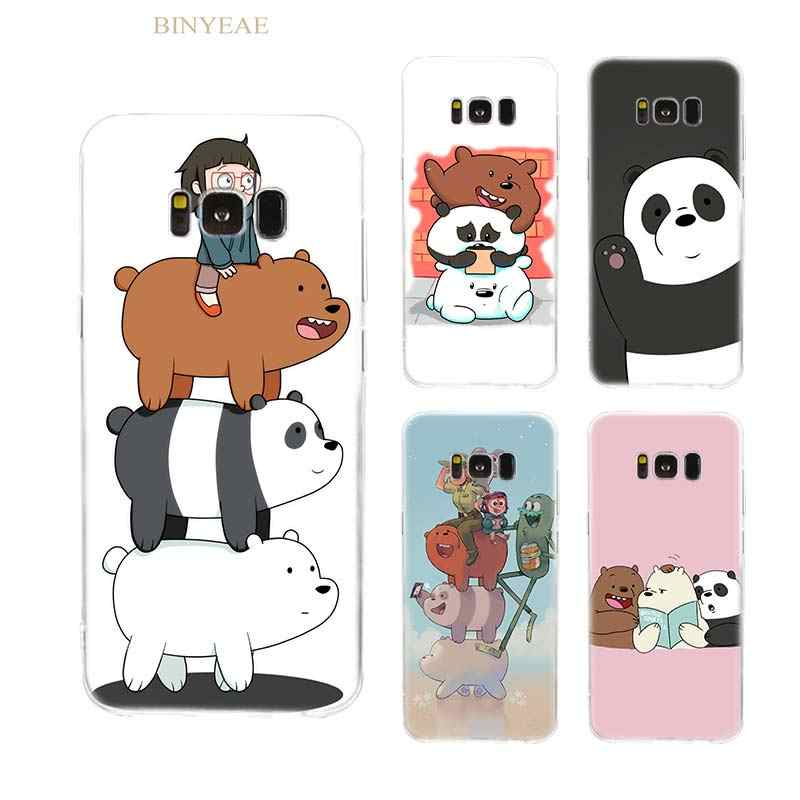 Case for Samsung Galaxy note 8 S8 S9 Plus S6 S7 S8 S9 S6 S7 edge Clear TPU Silicone Coque Capa Phone Cover Shell We Bare Bears
