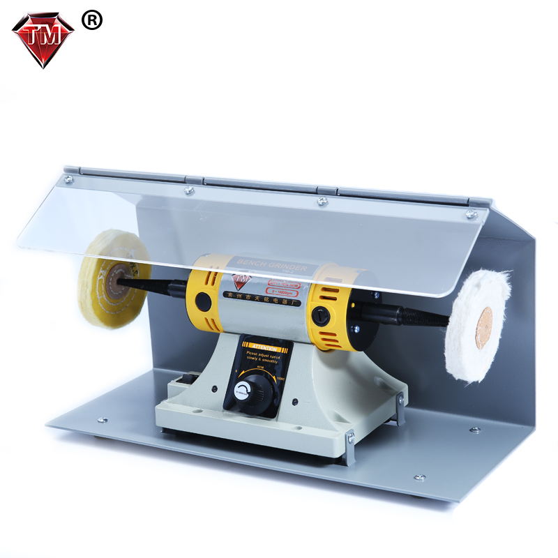 350w Bench Grinder Jewelry Polishing Machine With 2pcs Cover Goldsmith Tools