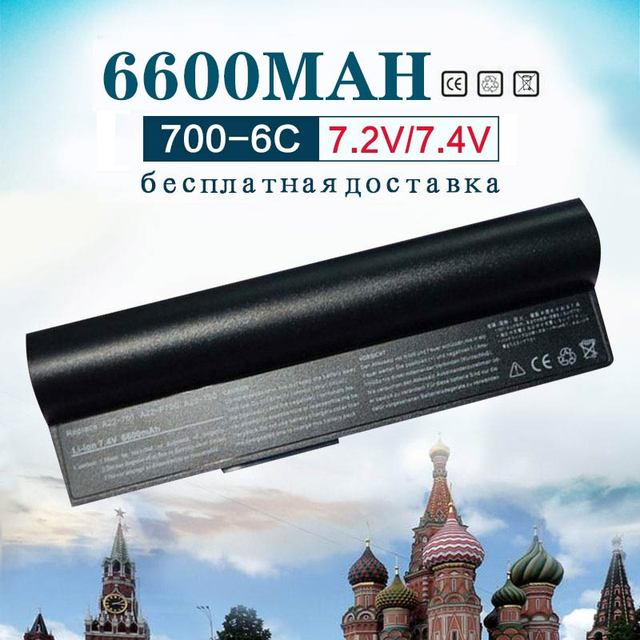 Golooloo 7.4v 6600mAh laptop Battery for Asus Eee PC 2G  4G  8G 900 700 701 90-OA001B1000 A22-700 A22-P701 A23-P701 P22-900
