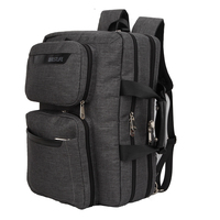 BESTLIFET Transform Business Laptop Backpack Canvas Packbag Multi Functional Business Bag For Man Travel Bags Mochila