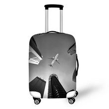 Travel accessories suitcase protective covers 18-30 inch elastic luggage dust cover case stretchable Aircraft pattern dispalang covers for suitcases anti dust luggage protective covers for 18 20 22 24 26 28 30 inch dirtproof luggage cover flowers