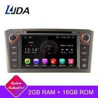 LJDA 2 Din Android 9.1 Car DVD Player For Toyota Avensis T25 2003 2008 Wifi GPS Radio 2GB RAM 16G ROM Quad Cores Multimedia USB