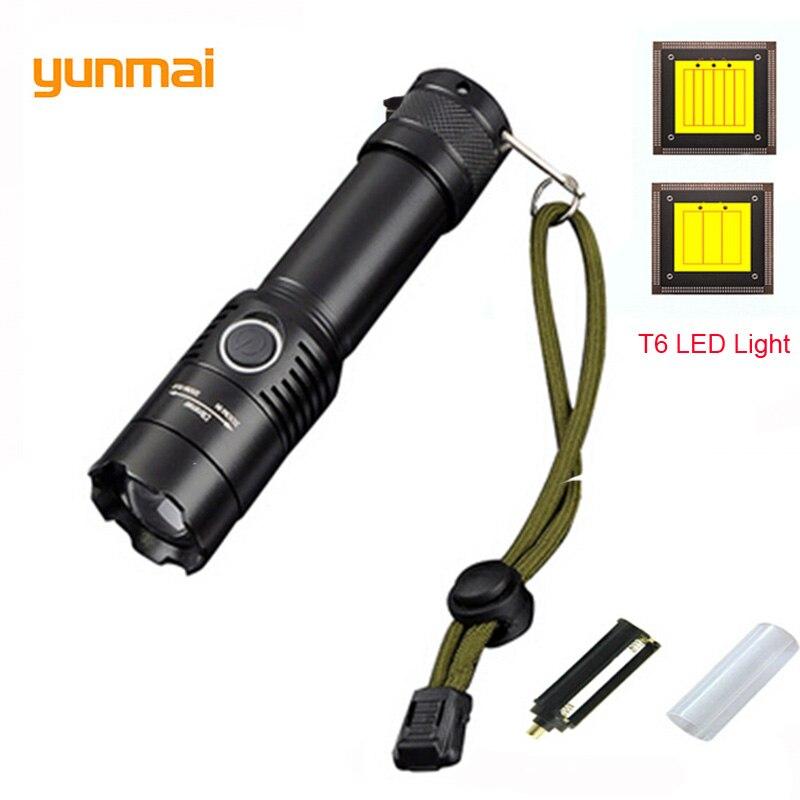 Tactical Hard Light Flashlight Cree XML-T6 Flash Lights Zoom LED Torch Bike Lights Pesca Linterna Fishing Spotlight Switch Lampe