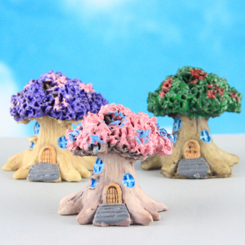 MINI FAIRY TREE HOUSE MINIATURE GARDEN MICRO LANDSCAPE ORNAMENT CRAFT DECOR ALL