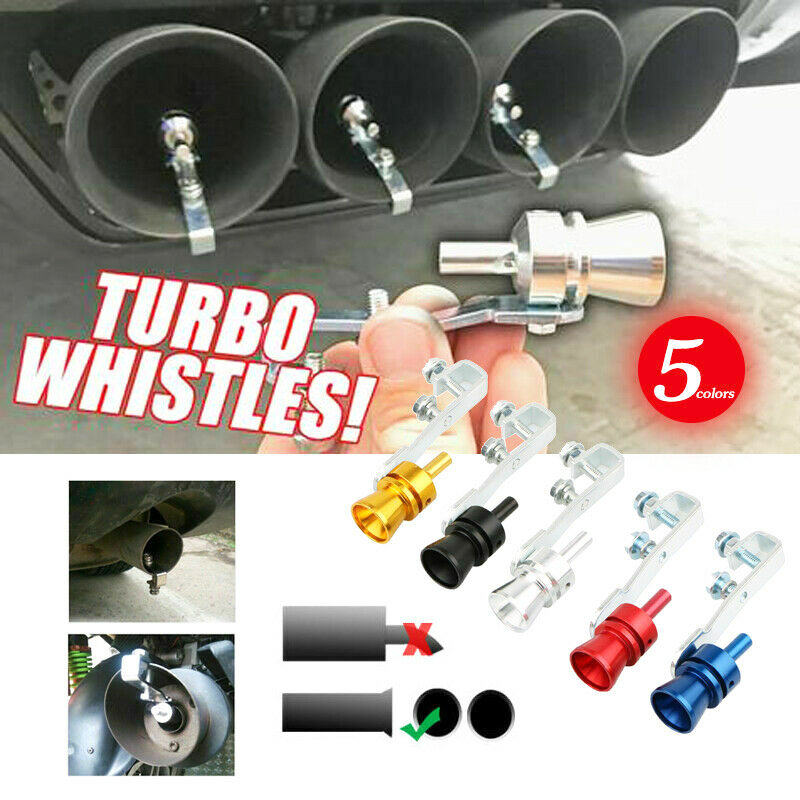 2019 New Practical Turbo Sound Whistle Muffler Exhaust Pipe Auto Blow Off Valve Simulator Universal Simulator Whistler Tools
