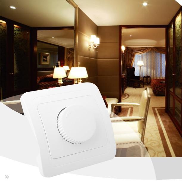 Диммер поворотный переключатель контроллер для Светодиодный лампочки лампы Регулируемый 250 V 6A