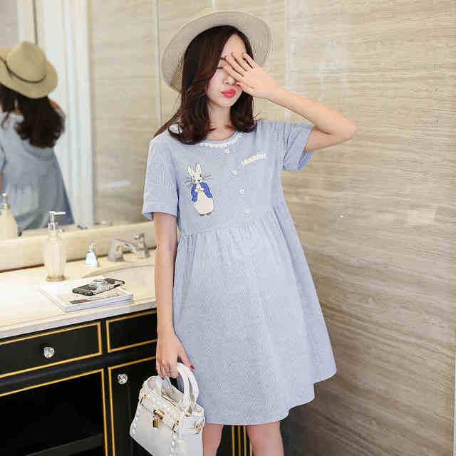 95eba6067 Ropa para mujeres de la camisa de maternidad vestido de embarazo dress para  las mujeres de