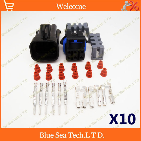 10 sets 6 Pin male female Auto plug connector Car waterproof Electrical connector for DELPHI connector