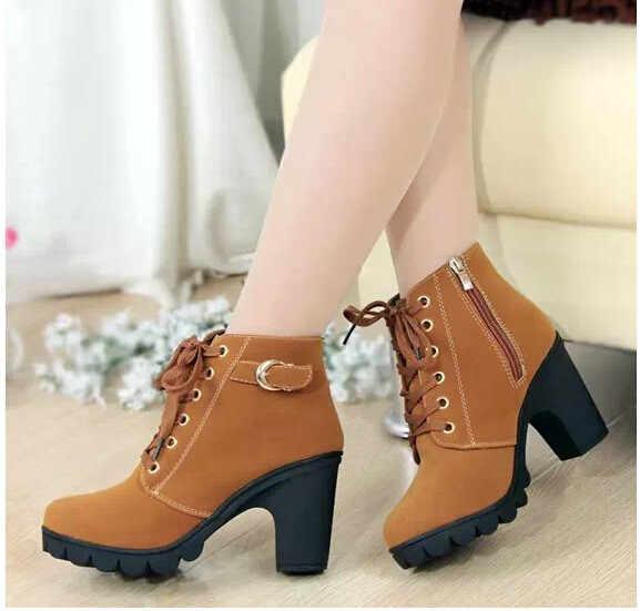 Kadın Botları yeni Stil Klasik Kadın Çizmeler Sonbahar Su Geçirmez Ayakkabı siyah ayakkabı artı boyutu 35-42