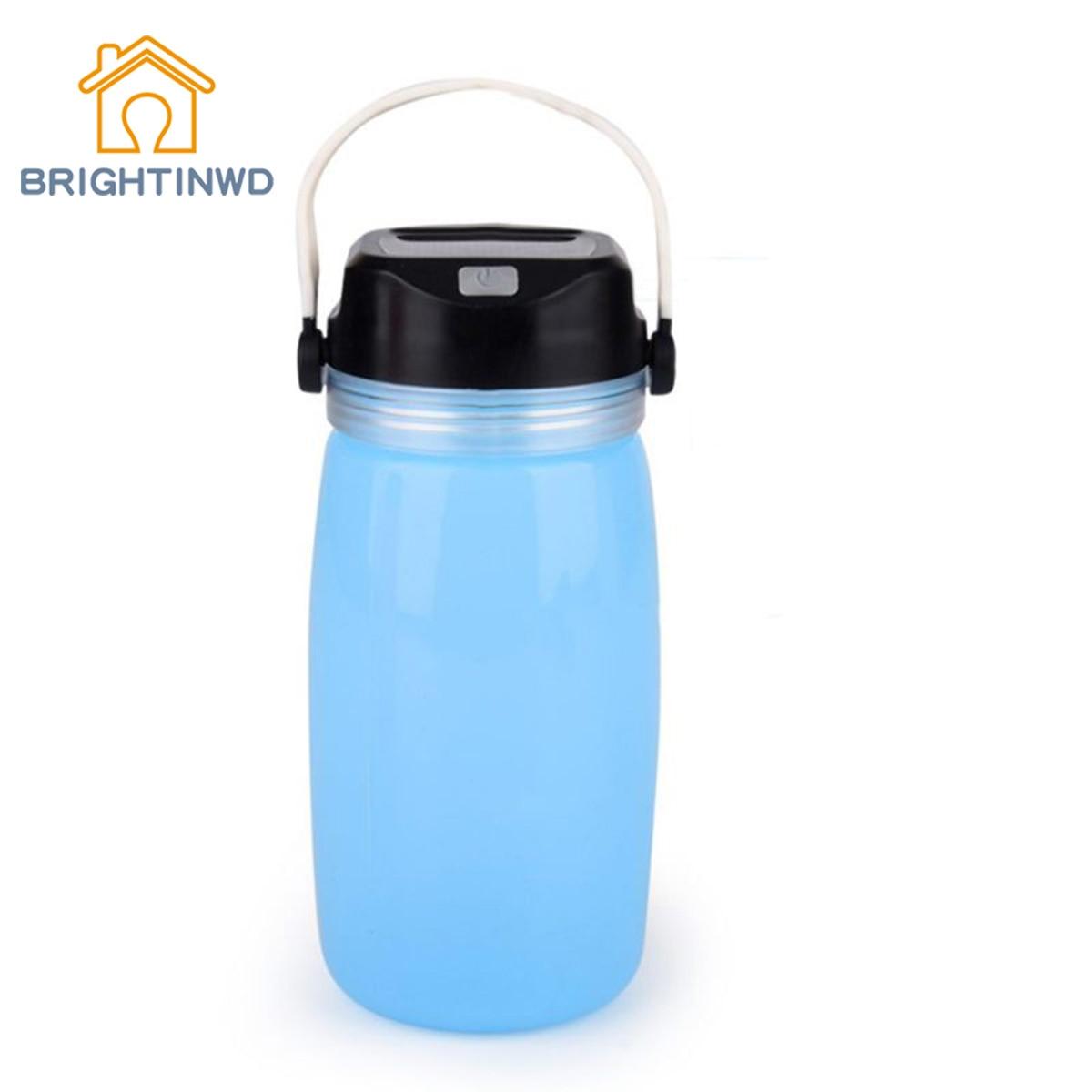 BRIGHTINWD Lantern Lights Gift Kid Outdoor LED linterna Portable Leak-Proof Sports Bottle Solar Charging Luminous Cup Tent Light