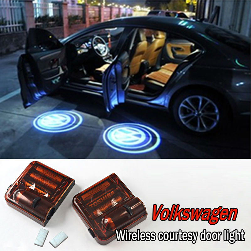 NEW DESIGN Car LED Logo Wireless Courtesy Door Light