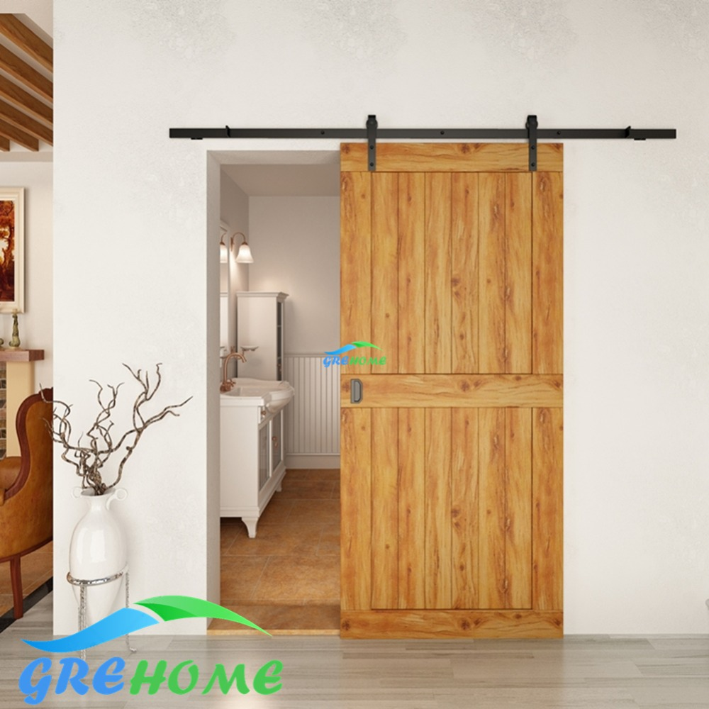 49ft6ft66ft Carbon Steel Rustic Interior Sliding Wood Barn Door