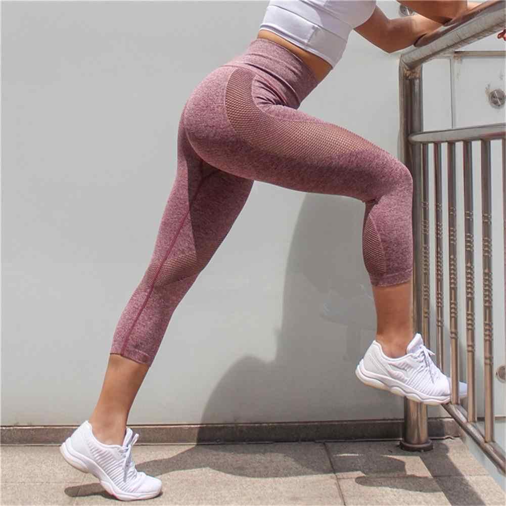 04ee161521a303 ... Sportswear Woman Gym Leggings For Fitness Sports Women's Leggins  Clothing Yoga Pants Capris Mesh Training Women ...