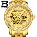 Швейцарские часы Binger  мужские брендовые Роскошные автоматические механические часы Miyota для мужчин с заводом при ходьбе  мужские сапфировые...