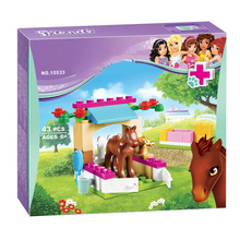 цена BELA 43pcs Friends Little Foal Kits Figures Building Blocks Christmas gifts Compatible 41089 legoINGlys Friends LEPINE