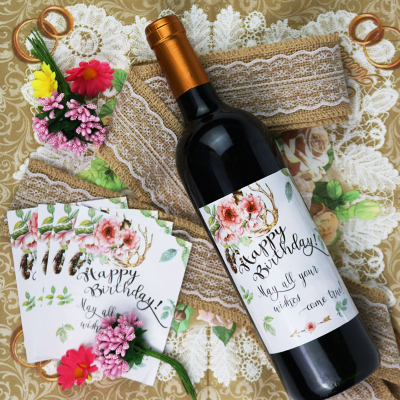20 Pcs Set Creative New Wine Labels Happy Birthday Wine Bottle Label For Birthday Party Wine Bottle Decoration Supplies Party Diy Decorations Aliexpress