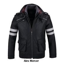 [Сток] Двойные ошейники! игровой прототип Alex Mercer, куртка из искусственной кожи, зимнее пальто, костюмы для косплея на Хэллоуин для женщин/мужчин M-4XL