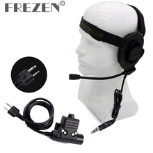 HD01 Z tactical Bowman Elite II Headset With U94 PTT Adapter Z113 Standard Version For ICOM IC-F21 IC-F10 Two Way Radio A38