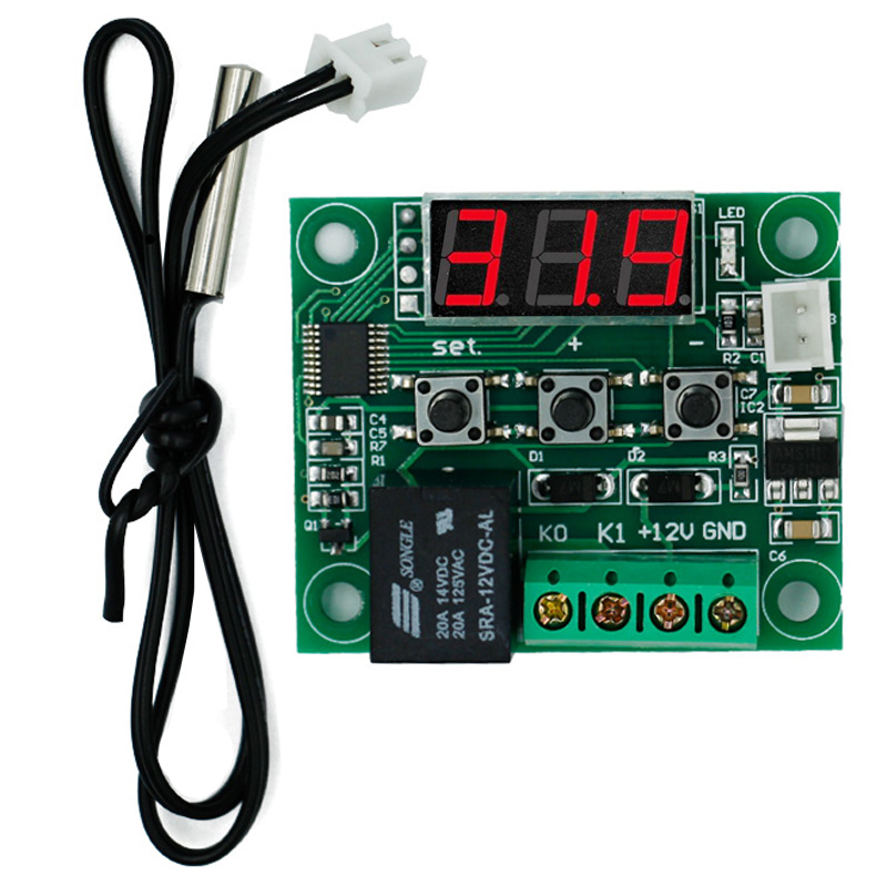 W1209 Digital LED DC 12V Temp Temperature Heat Cool Control Switch Module On/Off Controller Board + NTC Sensor 14% off w1209 green led digital thermostat temperature control thermometer thermo controller switch module dc 12v waterproof ntc sensor