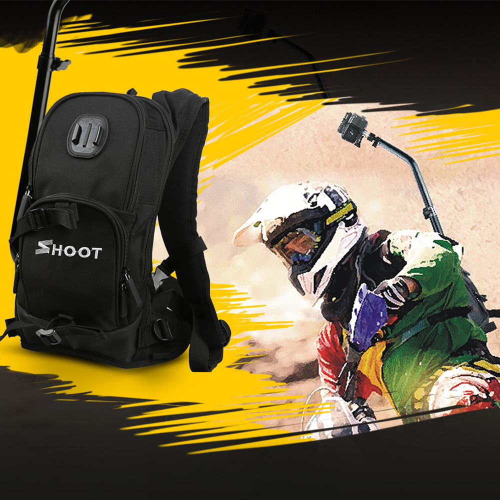 SHOOT moto vélo Selfie sac à dos sac de voyage pour GoPro Hero 7 6 5 Session Yi 4 K Sjcam Sj4000 H9r Action caméra sac à dos - 6
