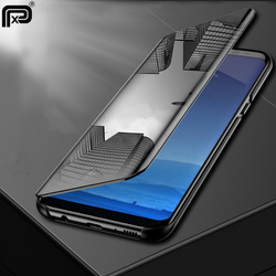 For Samsung Galaxy M20 Case Plating Leather Holder Mirror Flip Stand Cover For Samsung Galaxy M10 M20 Phone Case Fundas