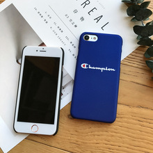 Black Blue Champion Phone Case iPhone 6 6s 7 Plus 8 X XR