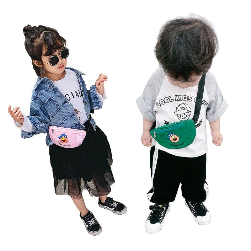 Children Waist Packs Cartoon Chest Bag Fanny Pack Kid Boy Girl Money Wallet Waist Bags PU Belt Bag Crossbody Mini Waist Pack